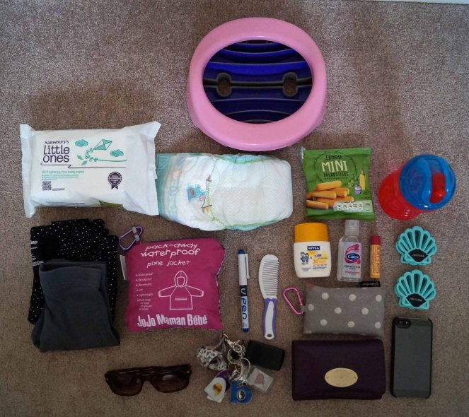 Contents of my changing bag